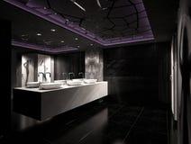 Sichtbarmachung 3D einer Innenarchitektur des Nachtclubs Lizenzfreies Stockfoto
