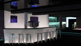 Sichtbarmachung 3D einer Innenarchitektur des Nachtclubs Stockbilder