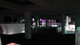Sichtbarmachung 3D einer Innenarchitektur des Nachtclubs Lizenzfreie Stockfotografie