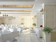 Sichtbarmachung 3D einer Innenarchitektur des Restaurants Lizenzfreies Stockbild