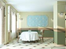 Sichtbarmachung 3D einer Innenarchitektur des Restaurants Lizenzfreie Stockfotos
