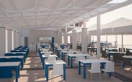 Sichtbarmachung 3D einer Innenarchitektur des Restaurants Lizenzfreies Stockfoto