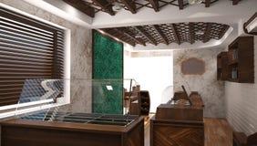 Sichtbarmachung 3D einer Innenarchitektur des Shops Lizenzfreie Stockbilder
