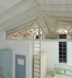 Sichtbarmachung 3D einer Innenarchitektur des Wohnzimmers Lizenzfreie Stockbilder