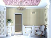 Sichtbarmachung 3D einer Innenarchitektur des Wohnzimmers Lizenzfreie Stockfotografie