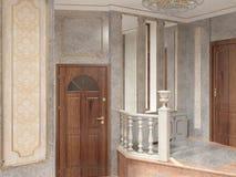 Sichtbarmachung 3D einer Innenarchitektur des Wohnzimmers Stockbild