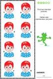 Sichtpuzzlespiel - finden Sie zwei identische Bilder von Jungen Lizenzfreie Stockbilder