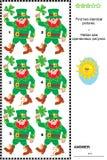 Sichtpuzzlespiel - finden Sie zwei identische Bilder von Kobolden Stockbilder