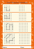 Sichtwahrnehmungsarbeitsblätter, folgen dem Weg, kopieren Muster Lizenzfreies Stockbild