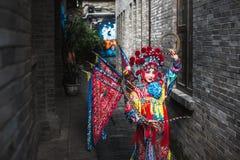 Sichuan ηθοποιός οπερών στο παραδοσιακό κοστούμι στοκ φωτογραφίες