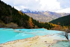 Sichuan Aba HUANGLONG landscape Royalty Free Stock Images