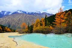 Sichuan Aba HUANGLONG landscape Royalty Free Stock Photo
