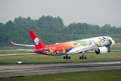 Sichuan Airlines ` 1st Aerobus A350 XWB Zdjęcie Stock