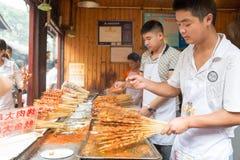 Sichuan barbecue at Ciqikou Ancient Town Stock Photos