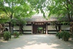 Sichuan, China Du Fu cubrió con paja el museo de la cabaña Imagen de archivo libre de regalías