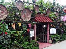 Sichuan, China, heeft een distinctief theehuis stock fotografie