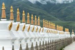SICHUAN, CHINA - 15 JULI 2014: Wit Pagodepark een beroemde landma Royalty-vrije Stock Foto