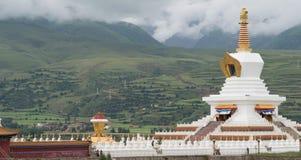 SICHUAN, CHINA - 15 JULI 2014: Wit Pagodepark een beroemde landma Royalty-vrije Stock Fotografie