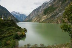 Sichuan, China Lake (Haizi) Royalty Free Stock Image