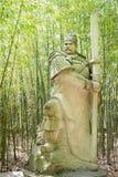 SICHUAN, CHINA - Mar 28 2015: Guan Suo Statue at Zhaohua Ancient Royalty Free Stock Images