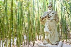SICHUAN, CHINA - Mar 28 2015: Huang Zhong Statue at Zhaohua Anci Stock Photography