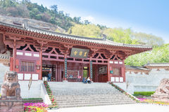 SICHUAN, CHINA - Mar 29 2015: Huangze Temple. a famous historic. Site in Guangyuan, Sichuan, China royalty free stock photos