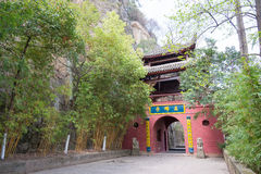 SICHUAN, CHINA - Mar 29 2015: Huangze Temple. a famous historic. Site in Guangyuan, Sichuan, China royalty free stock image