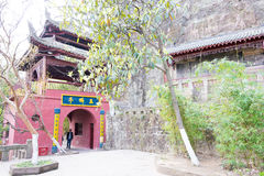 SICHUAN, CHINA - Mar 29 2015: Huangze Temple. a famous historic. Site in Guangyuan, Sichuan, China stock images