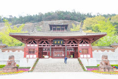 SICHUAN, CHINA - Mar 29 2015: Huangze Temple. a famous historic. Site in Guangyuan, Sichuan, China royalty free stock photography