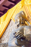 SICHUAN, CHINA - Mar 29 2015: Statue of Emperor Gaozong at Huang. Ze Temple. a famous historic site in Guangyuan, Sichuan, China royalty free stock image