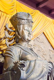 SICHUAN, CHINA - Mar 29 2015: Statue of Empress Wu Zetian at Huangze Temple. a famous historic site in Guangyuan, Sichuan, China. royalty free stock image