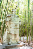 SICHUAN, CHINA - Mar 28 2015: Wei Yan Statue at Zhaohua Ancient Royalty Free Stock Images
