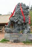 SICHUAN, CHINA - Mar 27 2015: Zhang Fei Statue at Cuiyun Corrido Stock Images