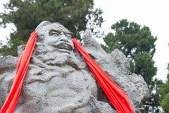 SICHUAN, CHINA - Mar 27 2015: Zhang Fei Statue at Cuiyun Corrido Royalty Free Stock Photography