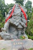 SICHUAN, CHINA - Mar 27 2015: Zhang Fei Statue at Cuiyun Corrido Royalty Free Stock Image
