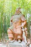 SICHUAN, CHINA - Mar 28 2015: Zhang Fei Statue at Zhaohua Ancien Stock Photos
