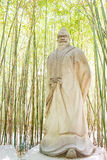 SICHUAN, CHINE - 28 mars 2015 : Pang Tong Statue chez Zhaohua Ancien Images stock