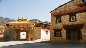 Sichuan des China-Tibetanertempels Stockfotos