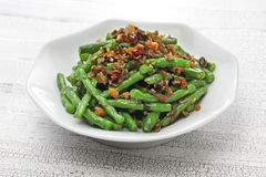 Sichuan dry fried green beans Stock Images