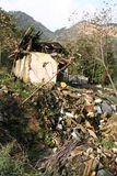 Sichuan earthquake. House destroyed by the May 2008 earthquake in Sichuan province, China Royalty Free Stock Photo