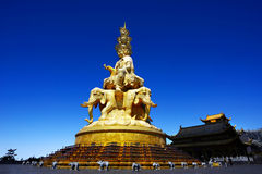 Sichuan Emei Golden Buddha Royalty Free Stock Photos