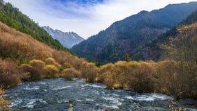 Sichuan Jiuzhaigou Chinese - autumn scenery Stock Photo