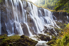 Sichuan jiuzhaigou scenic waterfall in China Royalty Free Stock Photo