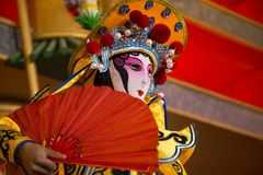 Sichuan Opera, The Changing Face of Sichuan Opera. chinese dance face change Stock Photos