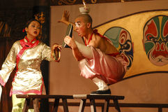 Sichuan opera - Chengdu Arkivbilder