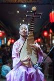 Sichuan opera - Chengdu Arkivfoto