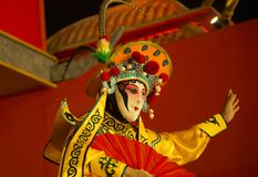 Sichuan opera, den ändrande framsidan av den Sichuan operan kinesisk dansframsidaändring Royaltyfri Bild