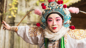 Sichuan opera female performer Royalty Free Stock Image