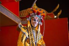 Sichuan opera odmienianie twarz Sichuan opera chińska taniec twarzy zmiana obrazy stock