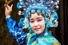 Sichuan operaaktris Arkivbilder